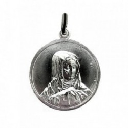 Colgante plata Ley 925m Medalla VIRGEN [1283]