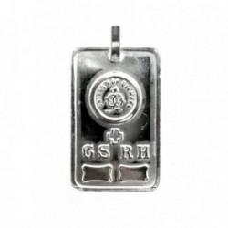 Colgante plata Ley 925m chapa GS.RH. UNIDOS POR SIEMPRE [1639]