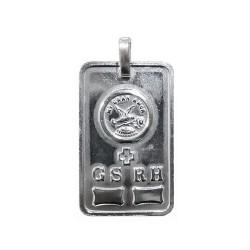Colgante plata Ley 925m Chapa pergamino GS.RH. MI GRAN AMOR [1638]