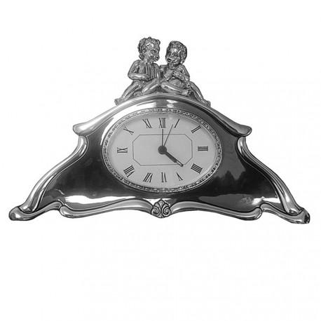 Reloj sobremesa plata Ley [4246]