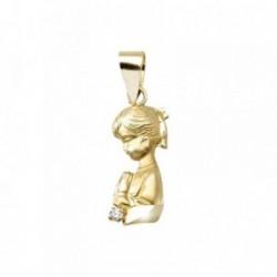 Colgante oro 18k Virgen Niña silueta [AA4916]
