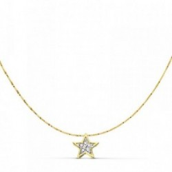 Gargantilla colgante oro 18k estrella 6.5mm. 42cm.  [AA7328]
