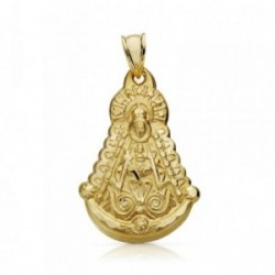 Colgante oro 18k Virgen Rocío 31mm. [AA7379]