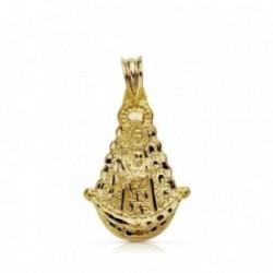 Colgante oro 18k Virgen Rocío 26mm. [AA7382]