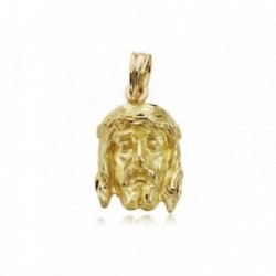 Cabeza rostro oro 18k Cristo Buena Muerte 19mm. [AA7391]