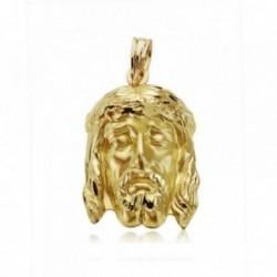 Cabeza rostro oro 18k Cristo Buena Muerte 23mm. [AA7393]