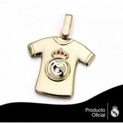 Colgante Real Madrid oro de ley 18k camiseta estampada  [AA7449]