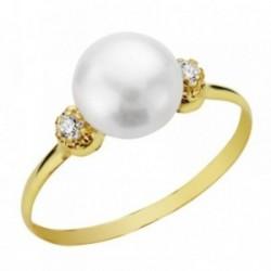 Sortija oro 9k perla circonitas [AA7517]