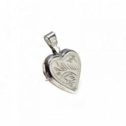 Colgante plata ley 925m 20mm. guardapelos corazón [AA7935]