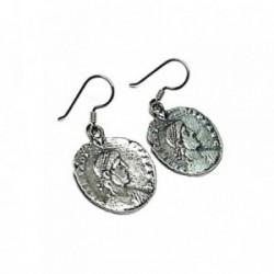 Pendiente plata ley 925m  oxidado 20mm. moneda [AA8821]