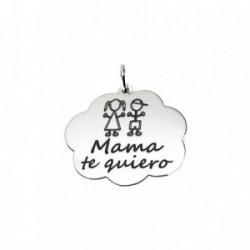 Colgante plata ley 925m 24mm. nube corazón Mamá te quiero [AA7720]