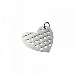 Colgante plata ley 925m 30mm. corazón calado corazones [AA7725]