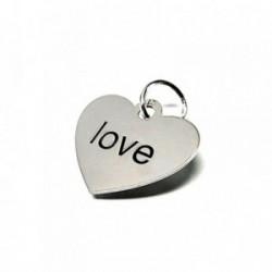 Colgante plata ley 925m liso corazón love [AA7726]