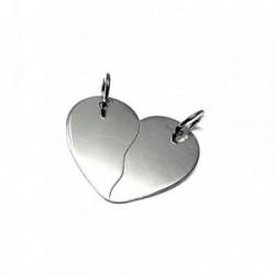 Colgante plata ley 925m 25mm. corazón partido [AA7802]