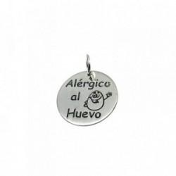 Colgante plata ley 925m 18mm. ALÉRGICO AL HUEVO [AA7848]