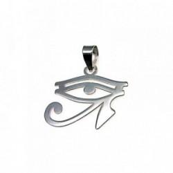 Colgante plata ley 925m amuleto talismán 23mm. unisex ojo que todo lo ve horus calado