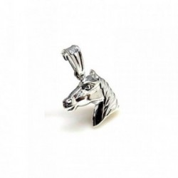 Colgante plata ley 925m 15mm. cabeza caballo [AA7923]