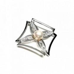 Colgante plata ley 925m 50mm. liso perla [AA7960]