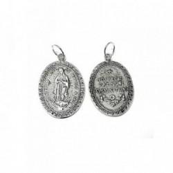 Medalla colgante plata ley 925m 30mm. Virgen Guadalupe lisa [AA7967]