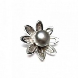 Colgante plata ley 925m perla cultivada [AA8074]