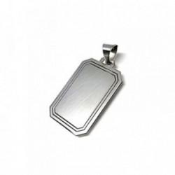 Colgante plata ley 925m 29mm. chapa rectangular [AA8278]
