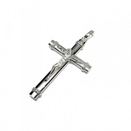 2bd91e72f74a Colgante plata ley 925m 40mm. cruz cristo  AA8293