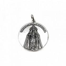 Colgante plata ley 925m 30mm. medalla Virgen Amargura [AA8332]