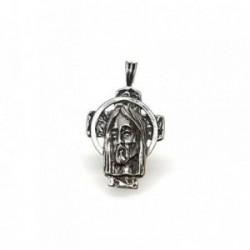 Colgante plata ley 925m 27mm. cabeza cristo [AA8389]