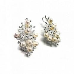 Colgante plata ley 925m perlas cultivadas [AA8414]