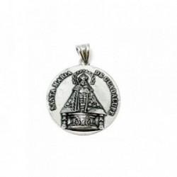 Colgante plata ley 925m 38mm. medalla Virgen Guadalupe [AA8461]