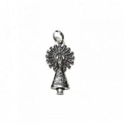 Colgante plata ley 925m 35mm. medalla Virgen Pilar [AA8471]