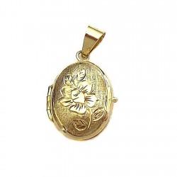 Colgante oro 18k guardapelo [296]