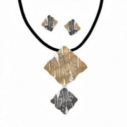 Conjunto ANTONELLI CRUISE bronce gargantilla pendientes [AA9828]