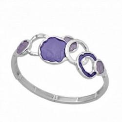 Pulsera ANTONELLI CRUISE bronce extensible violeta aros [AA9838]