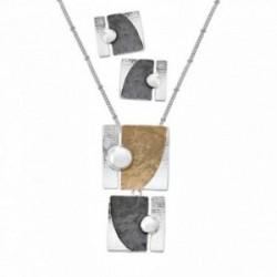 Conjunto ANTONELLI CRUISE bronce gargantilla pendientes [AA9842]