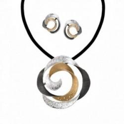 Conjunto ANTONELLI CRUISE bronce gargantilla pendientes [AA9843]