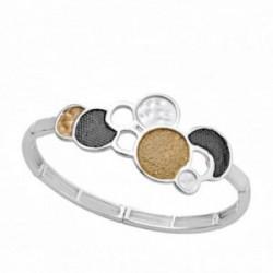Pulsera ANTONELLI CRUISE bronce extensible círculos [AA9844]