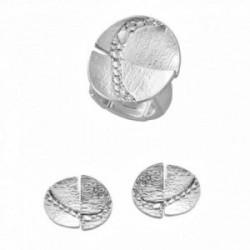 Conjunto ANTONELLI CRUISE bronce sortija pendientes pétalos [AA9846]