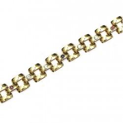 Pulsera cadena oro 18k [633]