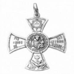 Medalla plata ley 925m San Antonio 33mm. cruz aspa  [AA9813]