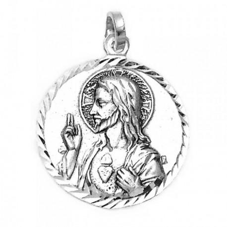 Medalla plata ley 925m Escapulario 21mm.  [AA9817]