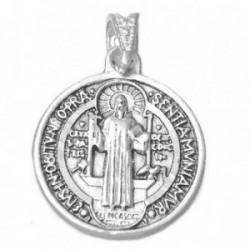 Medalla plata ley 925m San Benito 19mm. redonda [AA9821]