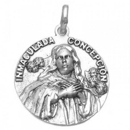Medalla plata ley 925m Virgen Inmaculada 26mm. medio busto [AA9811GR]