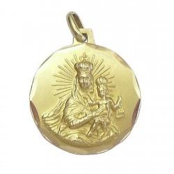 Medalla oro 18k escapulario [99]