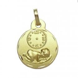 Medalla oro 18k nino Jesús esfera horaria [595]