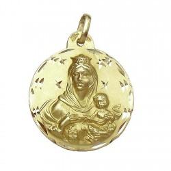 Medalla oro 18k escapulario [625]