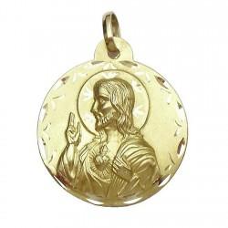 Medalla oro 18k escapulario [626]