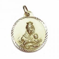 Medalla oro 18k escapulario [627]