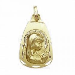 Medalla oro 18k Virgen Nina oval 25x15 [634]