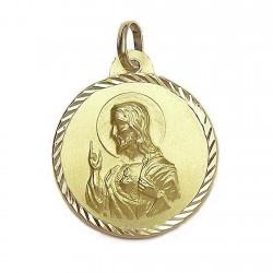 Medalla oro 18k escapulario [641]